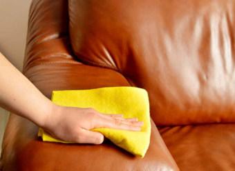 чистка кожаной мебели самому